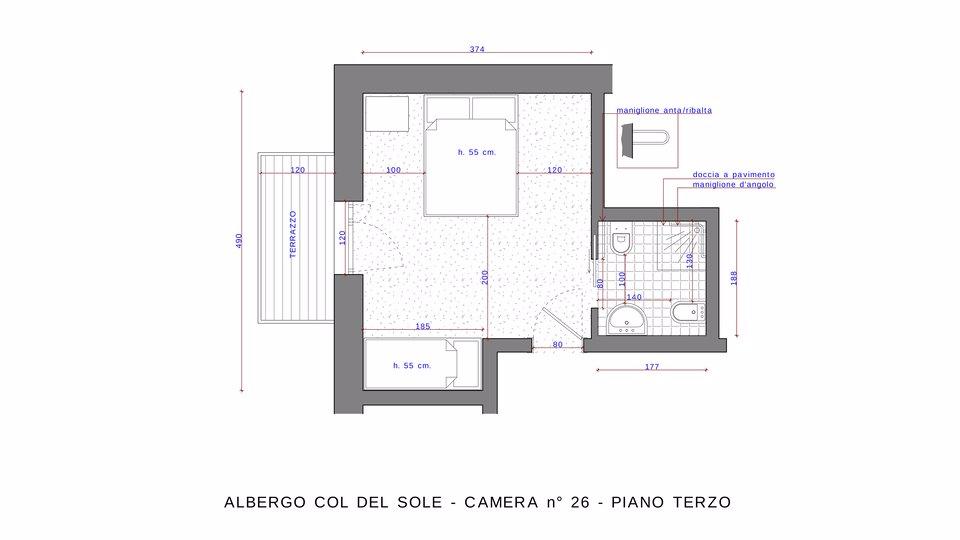 n 26 piano terzo camera doppia n1