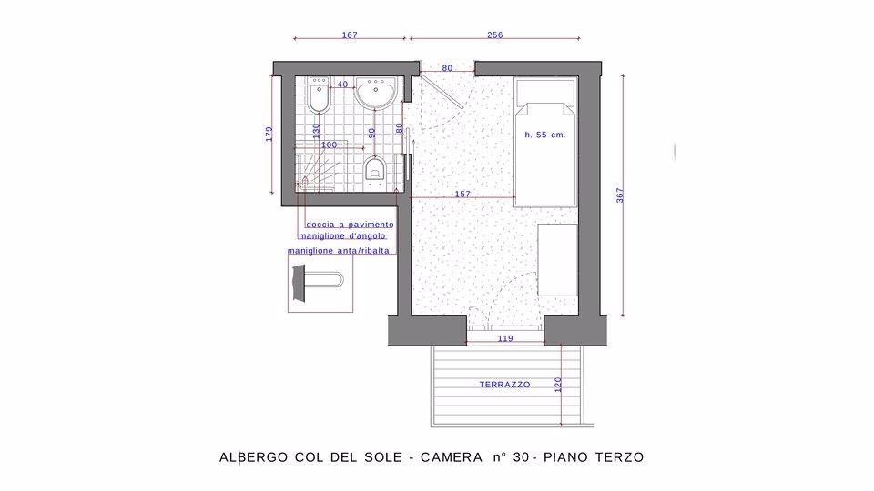 n 30 piano terzo camera doppia