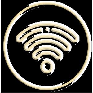 icona rilievo chiara wifi