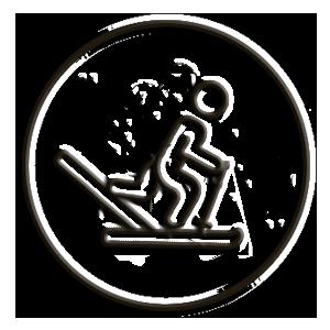 icona sci fondo